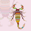 vector illustration of Scorpio Zodiac Sign
