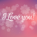 I Love You Vector Lettering stylish text