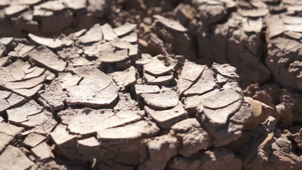 Dry Cracked Earth Closeup