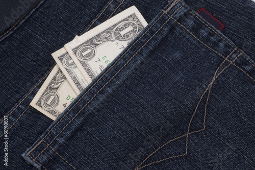 money in a pocket
