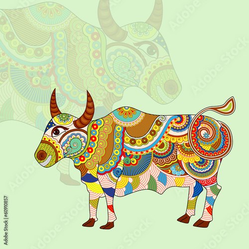 vector illustration of Taurus Zodiac Sign