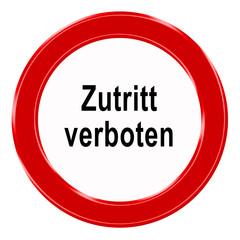 Verbotszeichen - Zutritt verboten