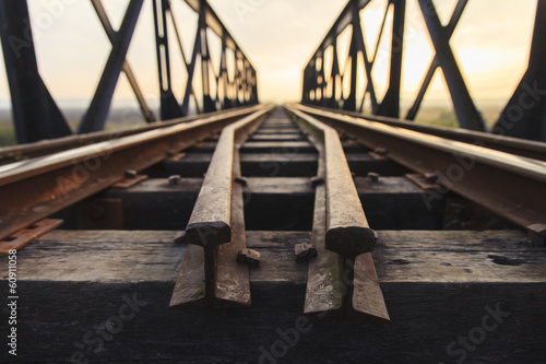 Old railway viaduct in Thailand