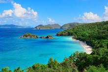 Wyspy Dziewicze plaży