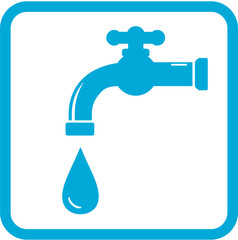 icon with tap. water symbol