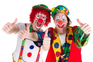 clowns zeigen daumen hoch