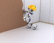 Robot plastering a wall