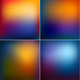 Smooth triangular colorful backgrounds set