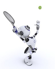 Robot playing tennis