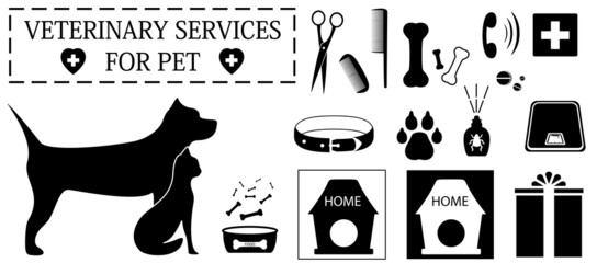 veterinary objects for pet care