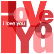 """""""I LOVE YOU"""" Letter Collage (heart card romance valentine's day)"""