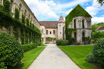 Famous abbey of Fontenay in Burgundy, France