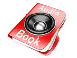 3d folder with speaker. audio-book concept