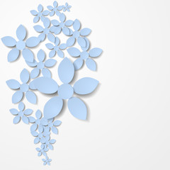 Paper flower background. Vector illustration