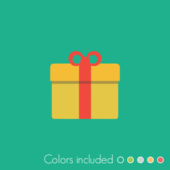 Gift - FLAT UI ICON COLLECTION
