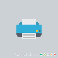 Printer - FLAT UI ICON COLLECTION