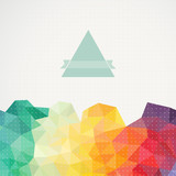 Triangle background, illustration. Abstract hand drawn banner, i