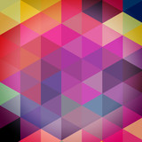 Triangles pattern of geometric shapes. Colorful mosaic backdrop.