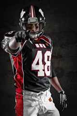 American footballer pointing at you