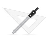 triangle ruler and drawing compass