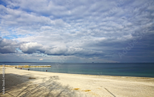 Black sea coast in winter, Odesa, Ukraine