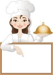 cuoca su sfondo bianco
