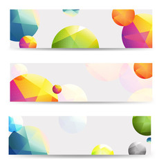 Color Abstract Banners Set