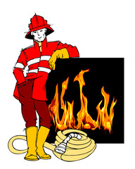 red firefighter