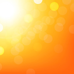 Orange Background With Bokeh
