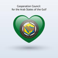 Love Arab States of the Gulf symbol.