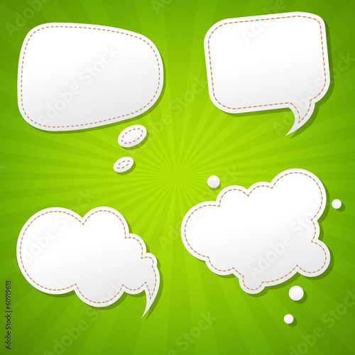 Green Sunburst Poster With Speech Bubble