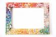 Leinwandbild Motiv Photo frame decorated with colorful mosaic