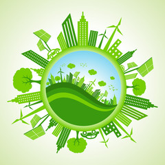 Eco cityscape stock vector
