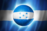 Soccer football ball with Honduras flag