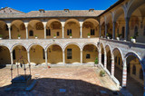 Cloister of St. Francesco Basilica. Assisi. Umbria. Italy.