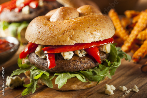 Healthy Vegetarian Portobello Mushroom Burger