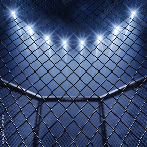 MMA cage and floodlights - 60922292
