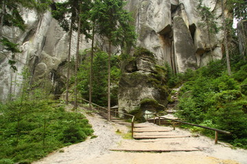 Path through the Adrspach rocks