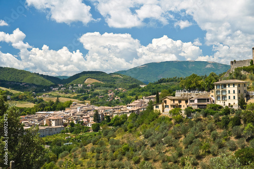 Panoramic view of Foligno. Umbria. Italy.