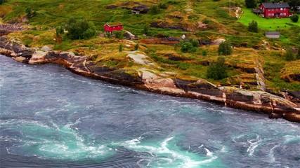 Tidal stream at Saltstraumen in Norway