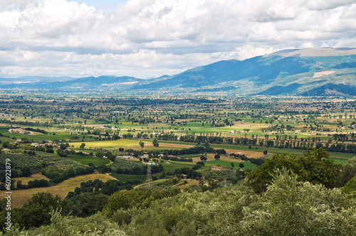 Panoramic view of Montefalco. Umbria. Italy.