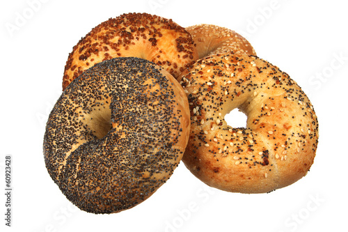 Fotobehang Brood Four Mixed Bagel