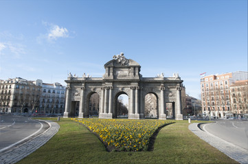 The Alcala Gate in Madrid, Spain.