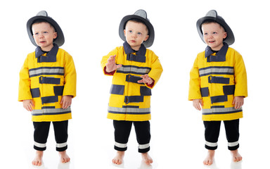 Three Expressive Little Firemen