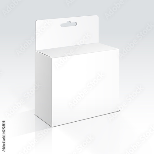 Vector Hanging Blank Box