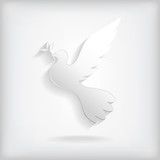 Dove with branch icon
