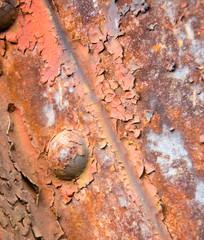 Rusty corten steel