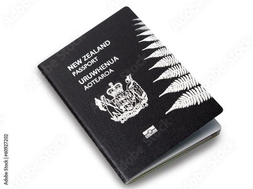 Fotobehang Nieuw Zeeland New Zealand passport