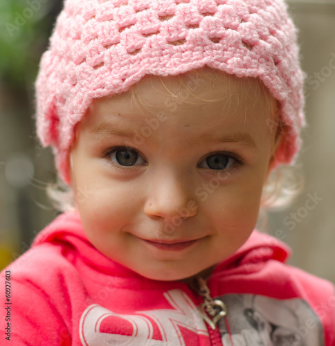 Emotional Portrait of Little Girl, Outdoor