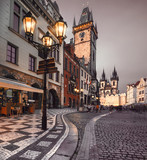 Old Market Square in Prague in the evening